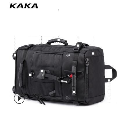 Kaka homens viagem trole mochila rolando bagagem sacos sobre rodas rodas mochila para a cabine de negócios viagem trole sacos - 3