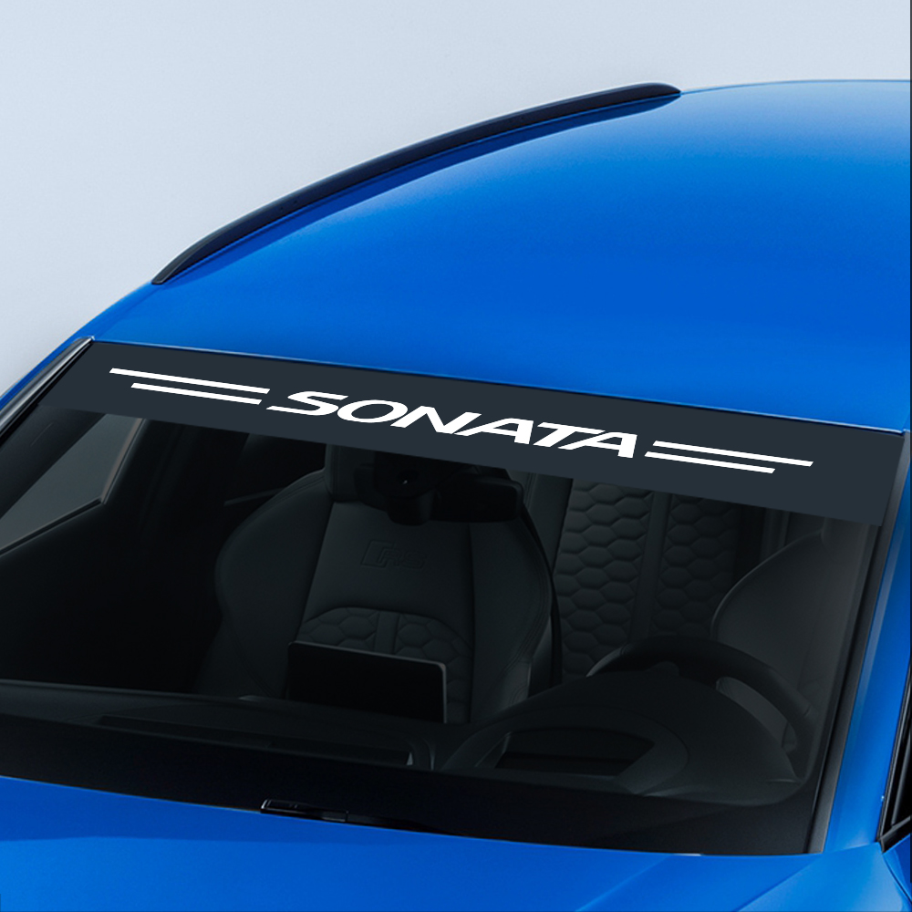 For Hyundai Sonata Fashion Auto Decor Car Stickers And Decals Racing Reflective Sunshade Cover Windshield Protection Accessories