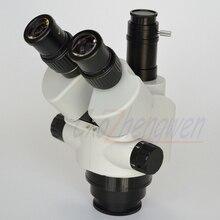 FYSCOPE חדש מגיע מיקרוסקופ 7X 45X Simul הפוקוס Trinocular זום מיקרוסקופ סטריאו ראש SZM45TN