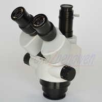 FYSCOPE NEUE KOMMEN MIKROSKOP 7X-45X Simul-Brenn Trinocular Zoom Stereo Mikroskop Kopf SZM45TN