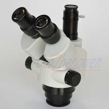 FYSCOPE NEW ARRIVE MICROSCOPE 7X-45X Simul-Focal Trinocular Zoom Stereo Microscope Head SZM45TN