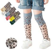 2020 мода малыш новорожденный дети девочки дышащий леопард гольфы носки мягкий удобный средний трусики носки принт милый принцесса носки