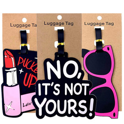 Modna szminka list etykiety na bagaż walizka uchwyt akcesoria podróżne ID Addres żel krzemionkowy przenośna etykieta bagaż na pokład w Akcesoria do podróży od Bagaże i torby na