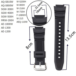 Rubber Strap Suitable for-Casio AE-1000w SGW-400H / SGW-300H Silicone Watchband Pin Buckle Strap Watch Wrist Bracelet Black(China)
