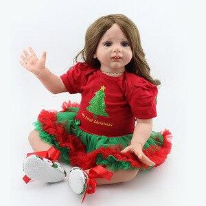 60 см, милая кукла принцессы для новорожденных, для детей, подходит для подарка, 24 дюйма, длинные волосы, красивая девочка, новорожденная, млад...