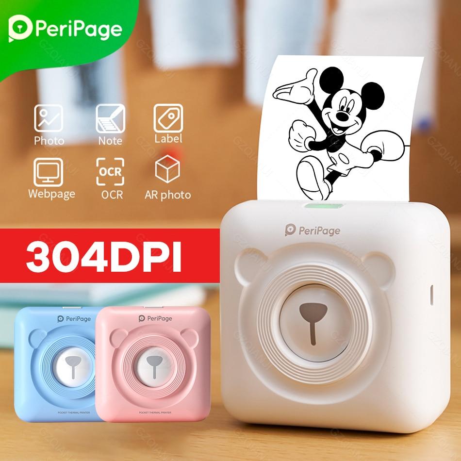 Peripage-impresora fotográfica térmica portátil A6, 304DPI, 2, Bluetooth 4,0, inalámbrica, sin tinta, Mini papel de impresión de notas de bolsillo