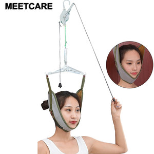 Image 1 - Neck Brace Support Pain Relief Head Cervical Traction Stretch Gear Back Stretcher Adjustment Chiropractic Strain Correction New