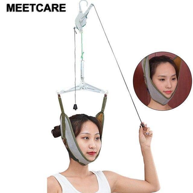 Szyja Brace wsparcie ulga w bólu głowa trakcja szyjna Stretch Gear powrót nosze regulacja chiropraktyka korekcja napięcia nowość