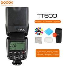Godox TT600 TT600S 2.4G Wireless Camera Photo Flash speedlight with Built-in Trigger for Canon Nikon Sony Pentax Olympus Fuji godox tt600 gn60 2 4g wireless camera flash speedlite with built in trigger system for canon nikon pentax olympus fuji sony