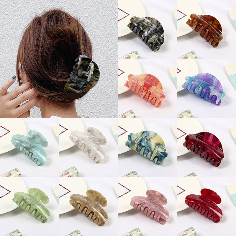 Hot Sale Acrylic Women Hair Claws Hair Crab Clamps Simple Fashion Female Hair Clips Claws Make Up Hairdress Hair Styling Tool