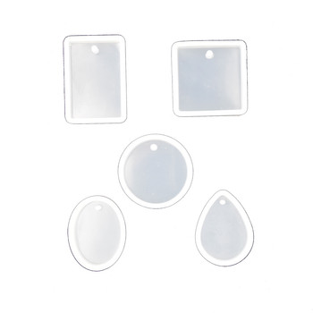 5pieces/set Silicone pendant Mold Resin Mould handmade DIY Jewelry Making epoxy resin molds