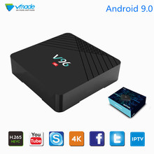 Vmade Original Mini TV Box Android 9.0 HD 4K H.265/HEVC 2+16GB Allwinner H6 Quad Core Set-Top Box Support Youtube Netflix WIFI vmade newest original v96mini android 9 0 os smart tv box allwinner h6 4gb 32gb h 265 hevc support youtube facebook media player