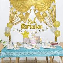 Suministros de fiesta islámica, vajilla desechable de Eid Mubarak para fiesta, Ramadan Mubarak de ayuda, decoración para el Islam