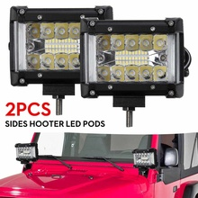 "Barra de luz LED de 2x4,2 "", 90W y 30 LEDs para trabajo en exterior, luz blanca para camioneta, todoterreno, camión, Tractor, barco, remolque 4x4, todoterreno"