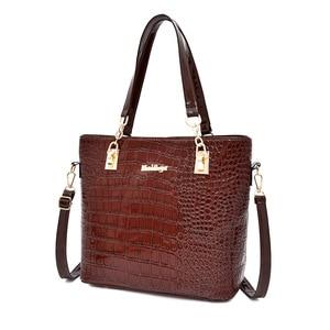 Image 5 - 6pcs/set Women messenger Bags Fashion PU Leather Vintage Shoulder bag cross body bag Tote Cool Bag Leather Women Luxury Handbags