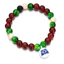 Halloween Colorful Beaded Pumpkin Skull Ghost Stretch Bracelets Fashion Jewelry A0NF(China)