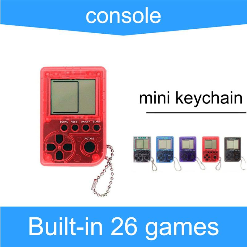 Mini jogo do console clássico fc jogos retro mini jogador de jogo com chaveiro cor tela lcd vídeo game crianças presentes