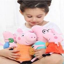 원래 4 개/대 Peppa 돼지 조지 동물 박제 인형 장난감 가족 핑크 Pepa 돼지 인형 Christma 선물 장난감 소녀 어린이위한