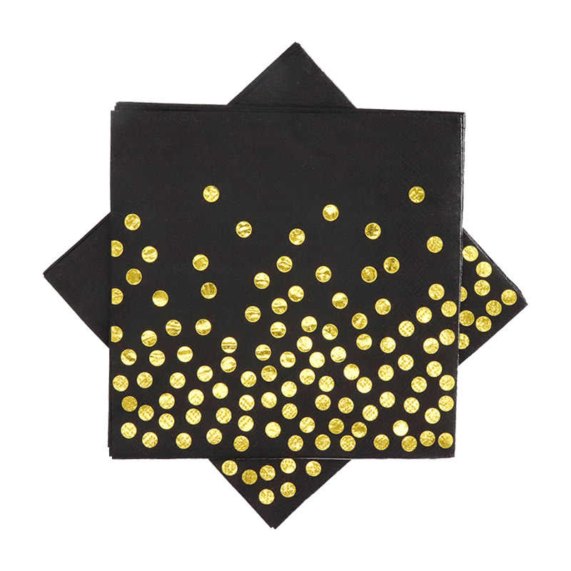 Dekoracja na przyjęcie z okazji urodzin jednorazowe zastawy stołowe ręcznik papierowy słomka do picia płyta balonowa 10 złota czarna