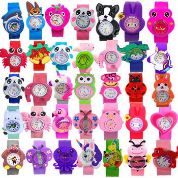 3D Cartoon Children's Watch 49 Style Pattern Kitty Flamingo Black Cat Dinosaur Quartz Watch Girl Boy Kid Learning Time Clock