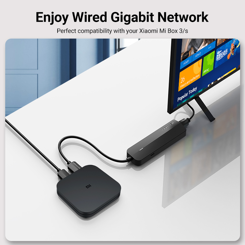 Vention USB Ethernet Adapter USB 3.0 2.0 to RJ45 Gigabit Ethernet with Micro USB Charger Port for Network Hard Disk Ethernet HUB 2