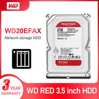 WD Red 2 to stockage réseau 3.5 ''NAS disque dur disque rouge 2 to 5400 tr/min 256M Cache SATA3 6 Gb/s HDD WD20EFAX
