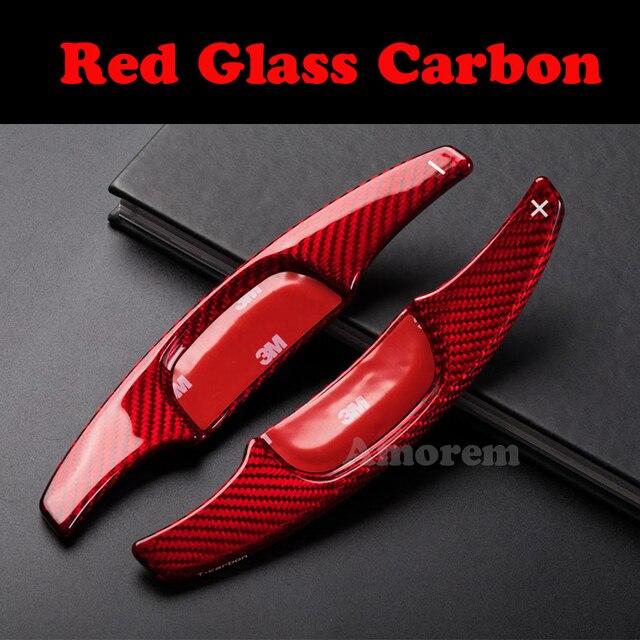 Für Mazda 3 Mazda3 2020 Lenkrad Paddle Shift Verlängerung Carbon Faser Paddel Shifter Auto Zubehör Aufkleber Abdeckung