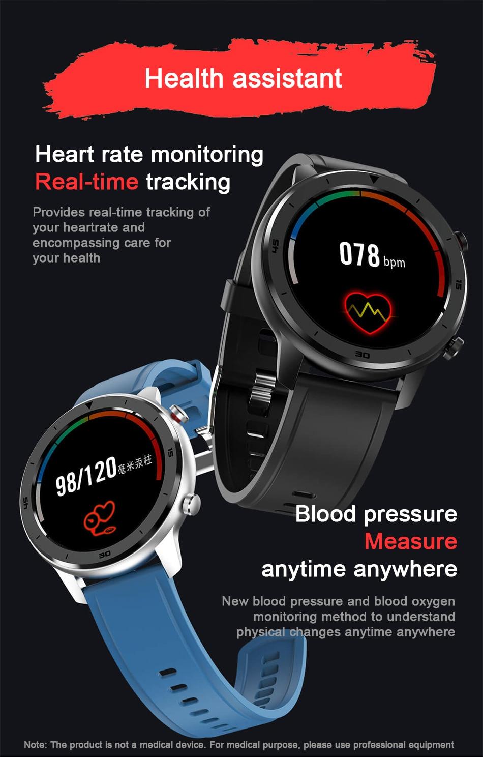 Original DT NO.1 DT78 Smart Watch IP68 1.3inch Sport Men Women Wearable Running track call reminder heart rate bluetooth music