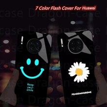 Call Light LED Phone Case For Huawei P40 Pro P20 P30 P10 P9 Lite Mate 9 10 30 20 Pro Lite soft TPU Glass Funda Phone Accessories