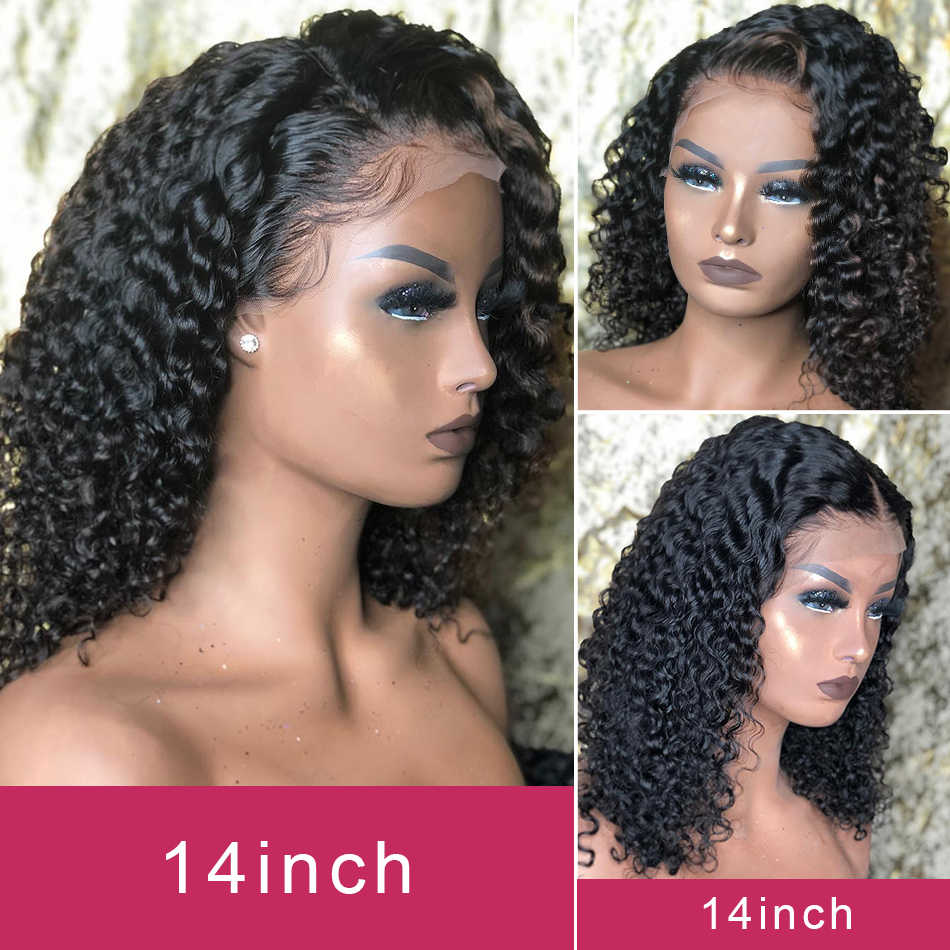 Deep Curly Bob Human Hair Wigs Glueless 13x4 Remy Lace Front Pre Plucked With Baby Hair Deep Wave Short Bob Wig For Black Women Aliexpress