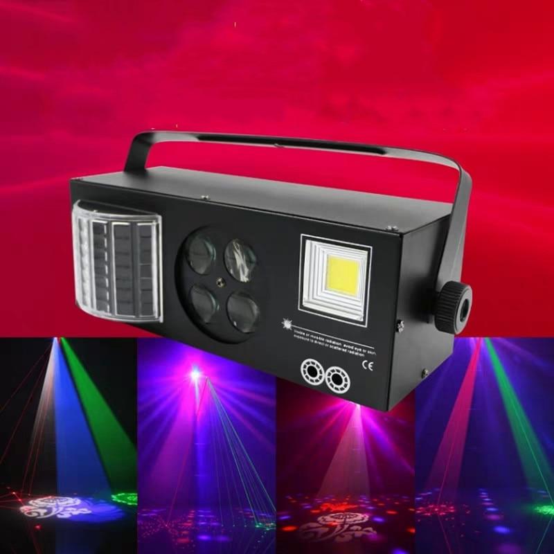 Işıklar ve Aydınlatma'ten Sahne Aydınlatması Efekti'de Luces estroboscópicas LED de buena calidad 4in1 DMX512 luces de efecto de escenario buenas para DJ disko cumpleaños fiesta boda title=