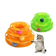 Brinquedo do animal de estimação gato plataforma giratória três-camada pista quebra-cabeça giratório turntable jogar jogo gato brinquedos interativos do gatinho do animal de estimação