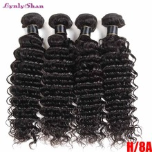 Lynlyshan Hair Brazilian Deep wave Bundles 100 Remy natural color Extensions 3 4 Bundles Deal Deep Wave Human Hair Weave cheap LYNLY SHAN Remy Hair =25 Brazilian Hair Darker Color Only Permed Weaving Machine Double Weft Shipped within 24 Hours Received within 2-4 Working Days