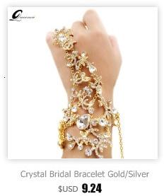 noiva cadeias de cristal braçadeira de jóias