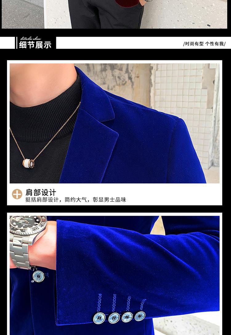 H127b75c02c09497fbe664e5b0c8ca8e2j - Autum Velvet Wedding Dress Coat Mens Blazer Jacket Fashion Casual Suit JacketStage DJ Men's Business Blazers Veste Costume Homme