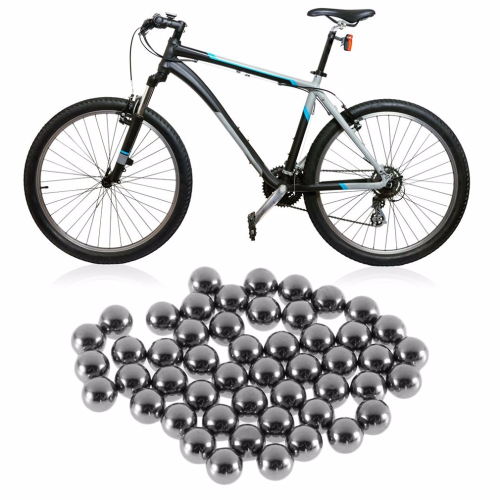 50pcs/set 4 5 6 8 9 10mm Dia Durable Bicycle Stainless Steel Ball Bearing Silver Tone Bikes Replacement Ball