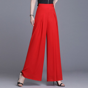 plus size summer pants women cargo chiffon wide-leg thin loose skirt big feet trousers