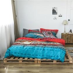 Juego de edredón bohemio de algodón 3d, juego de edredón de lujo bohemio, funda de almohada, colcha de cama tamaño King Size
