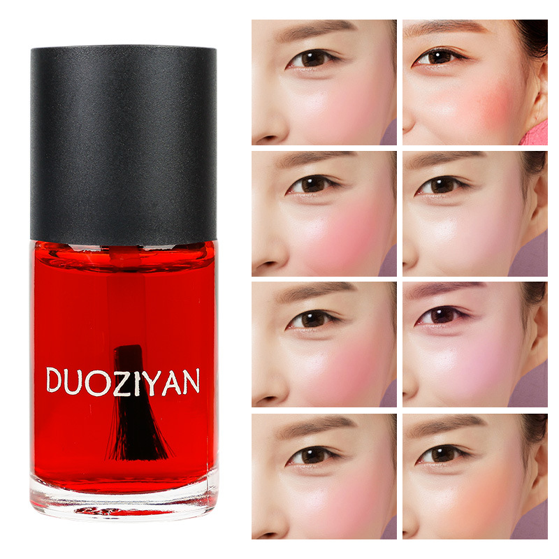 1 Pc 8 Colors Makeup Face Liquid Blusher Waterproof Long Lasting Lip Liquid Natural Cheek Face Base Contour Blush Makeup