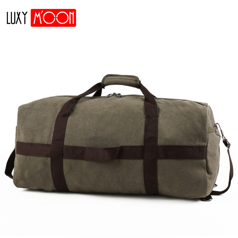 2019 Male Travel Bag Large Capacity Men Hand Luggage Travel Duffle Bags Canvas Weekend Bags Multifunctional Travel Bags XA155K