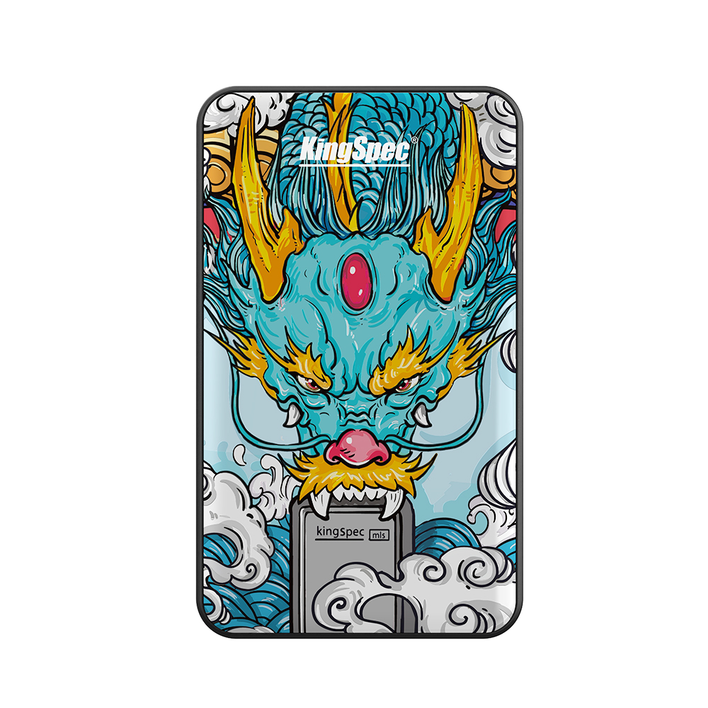 KingSpec External SSD 1tb 512gb Portable SSD 256gb SSD USB 3.1 Type C External Solid State Drives Chinese Dragon with Authority