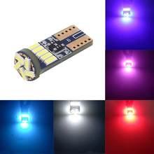 T10 15SMD 4014 LED Car Fog Light Bulbs Auto Backup Reverse Light White Red Purple Yellow Blue Width Lamp License Plate Light(China)