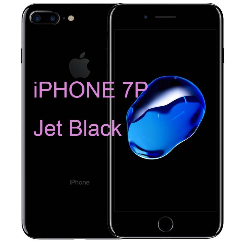 Разблокированный Apple iPhone 7/iPhone 7 Plus четырехъядерный мобильный телефон 12,0 МП камера 32G/128G/256G Rom IOS Телефон с отпечатком пальца - Цвет: iphone 7P Jet Black