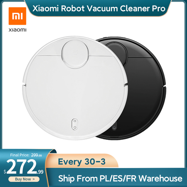 Xiaomi Mi Robot Vacuum Cleaner Pro for Home Smart Wireless Sweeping Cleaning Electric Mop MIJIA Carpet Dust Robotic Collector 1