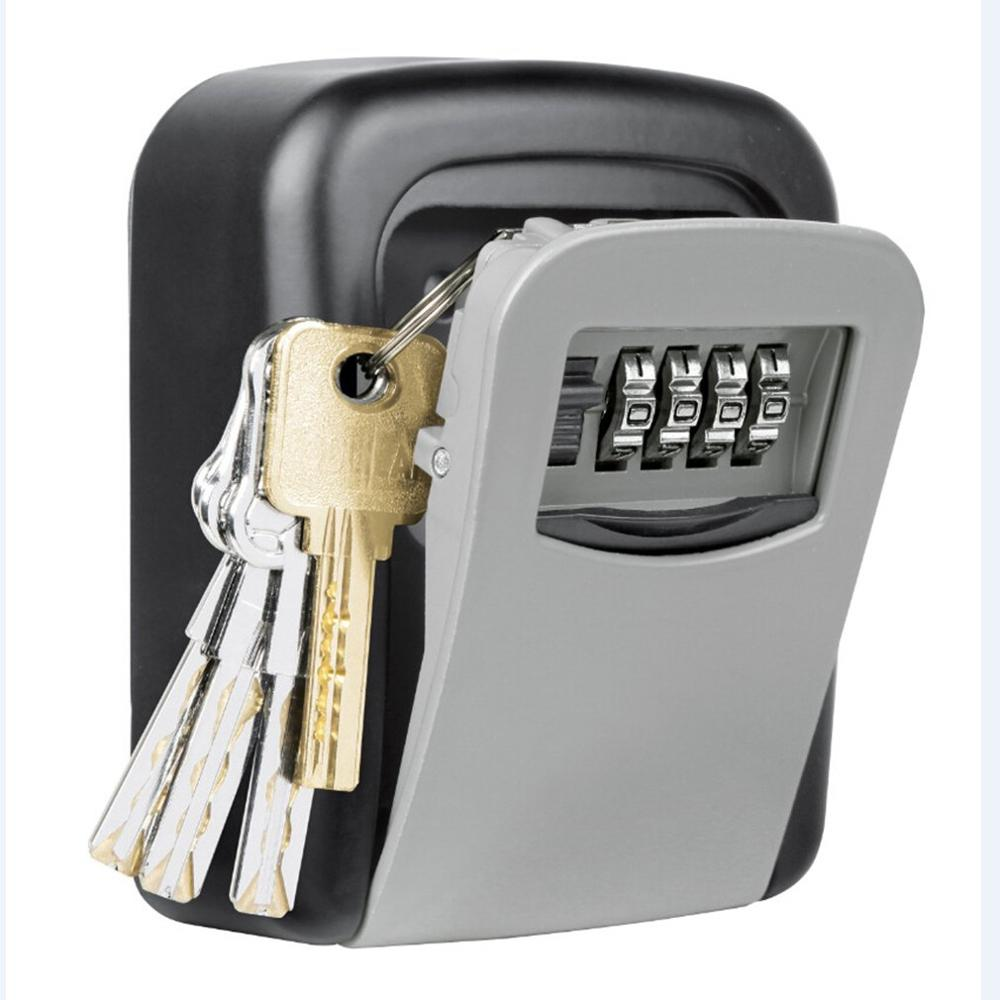 Outdoor Wall Mounted Key Storage Box With Spare Key Organizer Box Organizer Metal Secret Safe Box