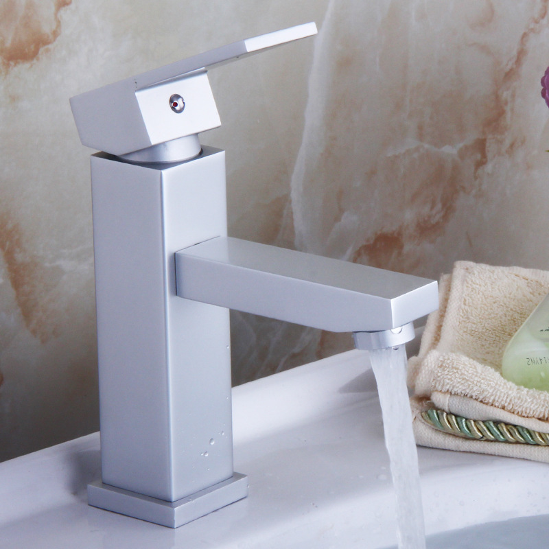 Alumimum Heating Tap Toilet Wash Basin Bathroom Inter-platform Basin Washbasin Sink Leading Square