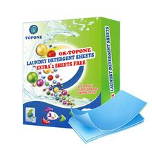 60 sztuk nowa formuła proszek do prania Nano Super skoncentrowane mydło do prania delikatny proszek do prania arkusze produkty czyszczące do prania tanie tanio OK TOPONE TLS62-28 Czyszczenie Laundry sheet 62pcs box Apparel Blue everyone Health Eco-friendly Safety Package 1 bag laundry detergent sheets(62 sheets)