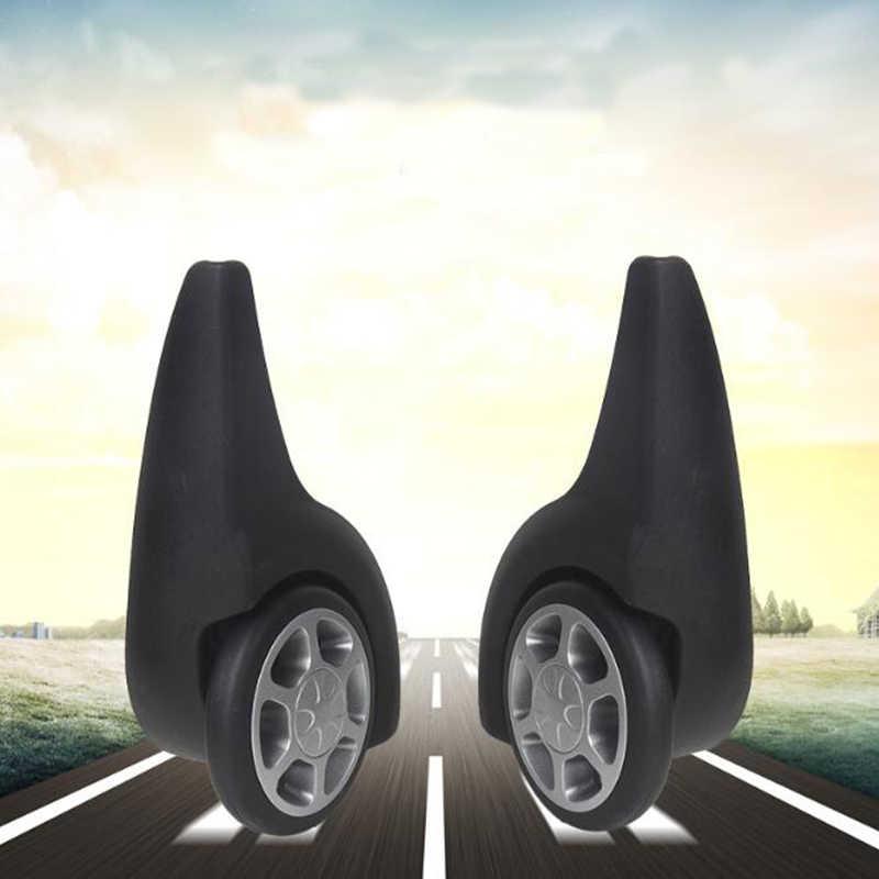 2 pçs/set rodas de substituição de bagagem peças de reparo de bagagem mala de viagem plástico trole peças direção roda para bagagem