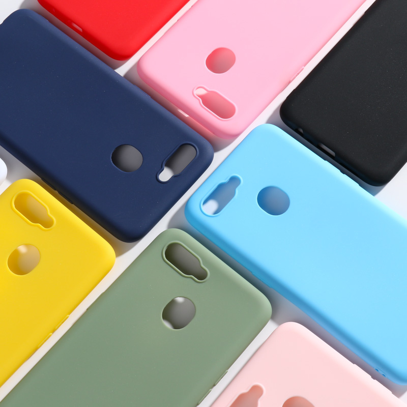 For OPPO A7 AX7 Case 6.2'' Silicone Candy Color Soft Phone Case For OPPO A5S A7 OPPOA7 CPH1901 Phone Cover image