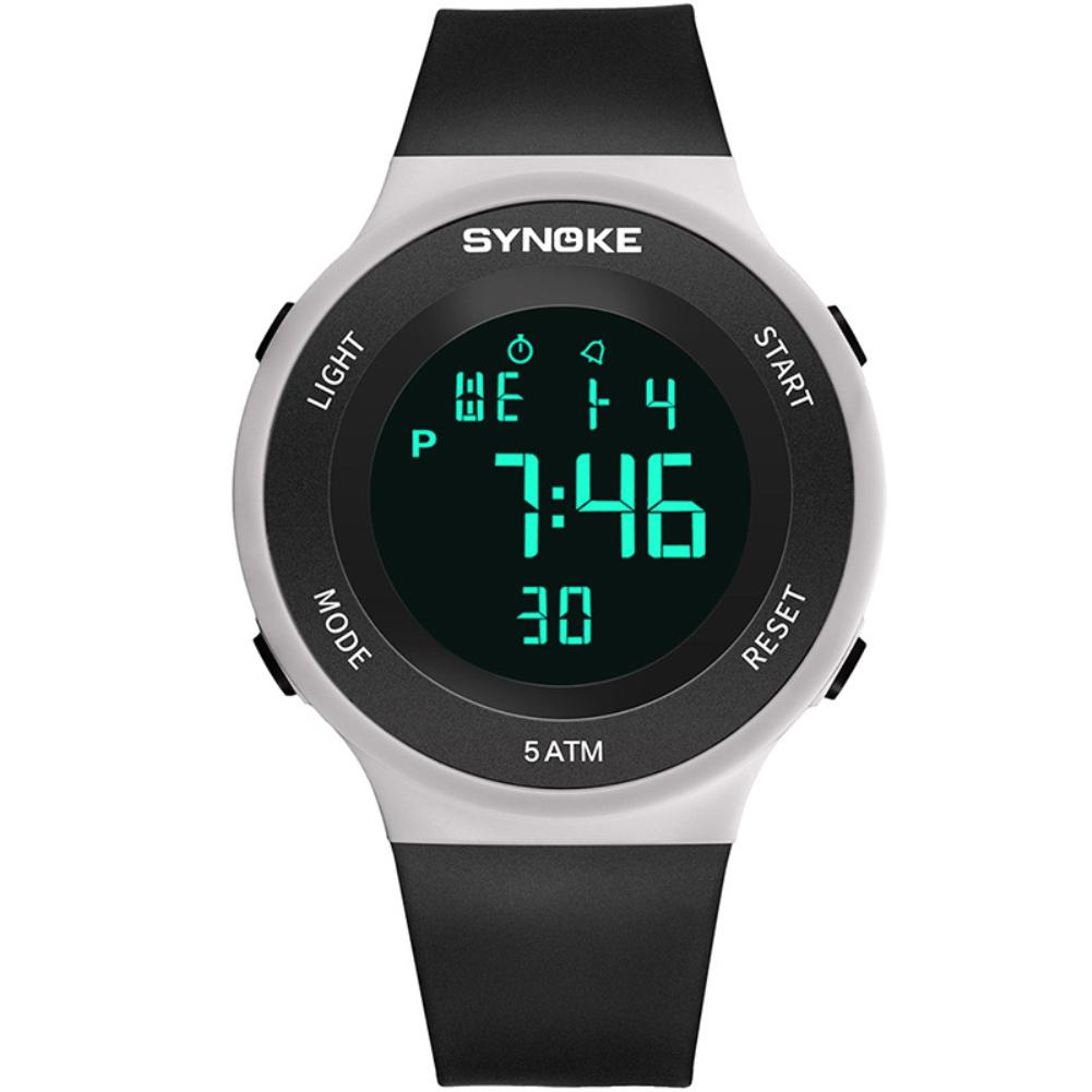 Unisex Outdoor Waterproof Alarm Plastic Band Date Display Sports Wrist Watch Unisex Digital Relogio Men's And Women's Fashion Wa